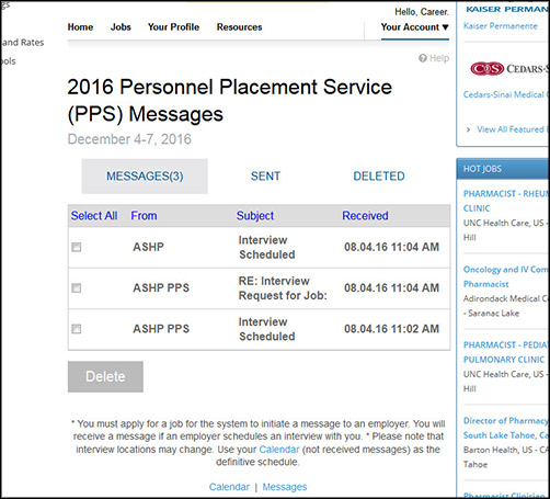 Pps Calendar.How To Use The Pps Messaging System Ashp